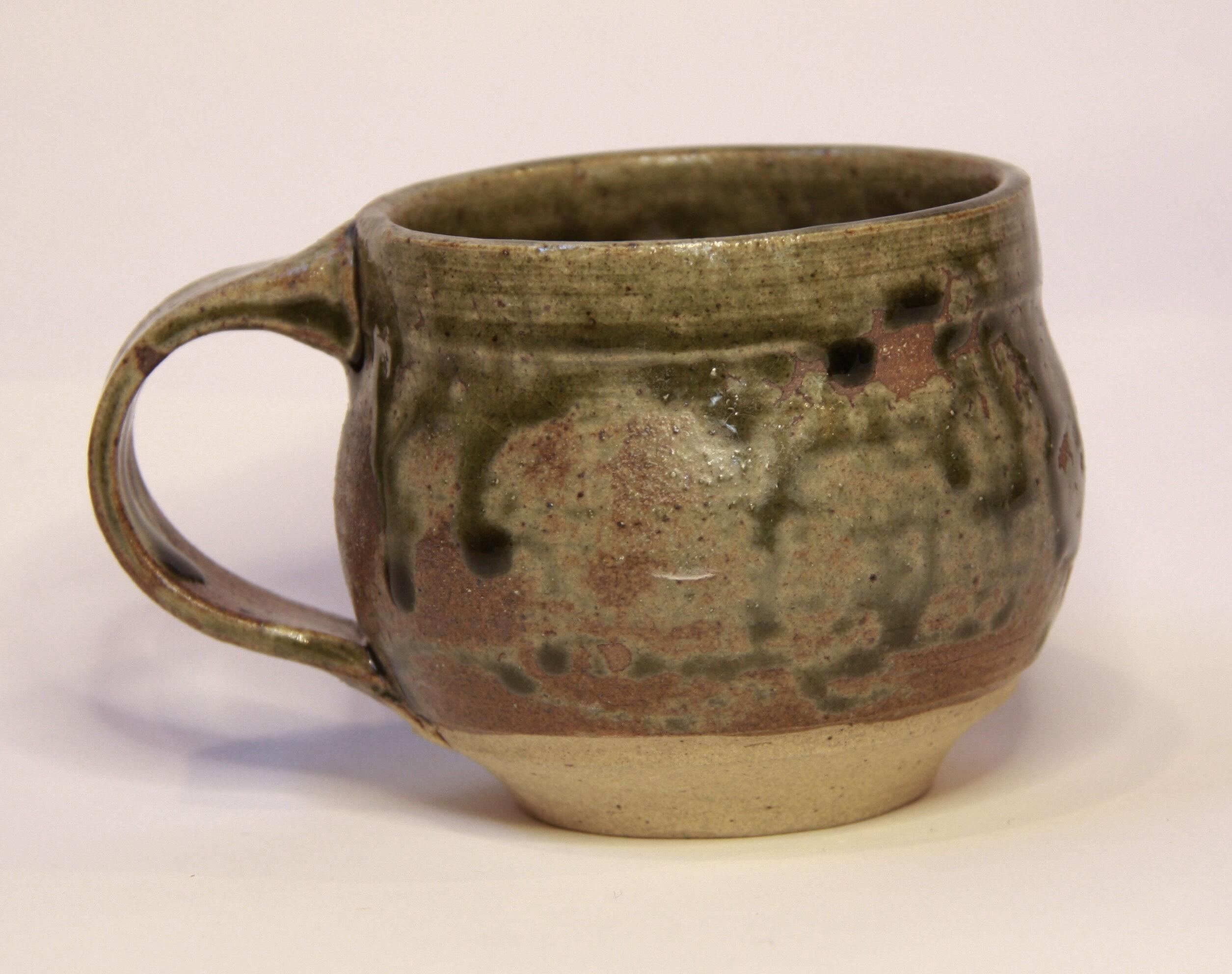 Small cup with mulga and lilli pilli ash glaze