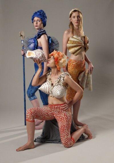 Ceramic and mixed media Models- Sarah Sulan, Amy Donaldson,Frances Donaldson