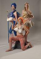 Ceramic and mixed media Models, Sarah Sulan, Amy Donaldson, Frances Donaldson