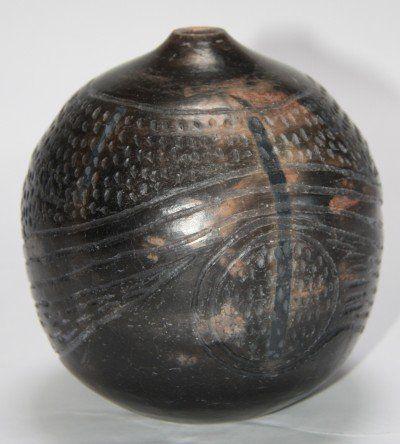 Carved pot